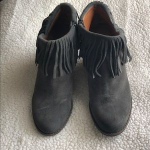 Lucky Brand Wedge Ankle Boot with Fringe